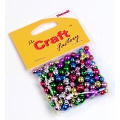 Craft factory Coloured Plastic Beads -30 grams - Hobby & Crafts