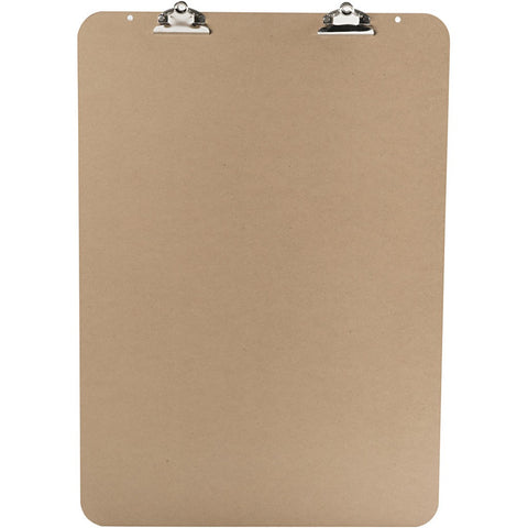A2 Dark Brown MDF Easel Clipboard With Double Metal Clip 52cm x 74cm Writing Drawing Accessories