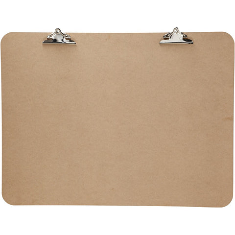 Dark Brown MDF Extra Large Clipboard With Dual Metal Clip 75cm x 100cm Writing Drawing Accessories