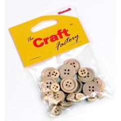 Craft Factory Assorted Buttons - 30 pieces - Hobby & Crafts