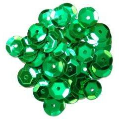 Green Medium Cup Sequins - Hobby & Crafts