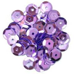 Lilac Medium Cup Sequins - Hobby & Crafts