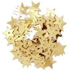 Gold Hologram Large Stars - Hobby & Crafts