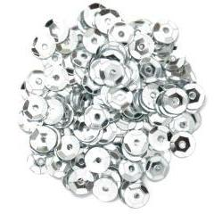 Silver Small Cup Sequins - Hobby & Crafts