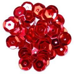 Red Medium Cup Sequins - Hobby & Crafts