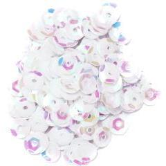 White Small Cup Sequins - Hobby & Crafts