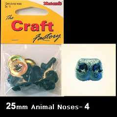 Minicraft Animal Nose, 25mm, black - Hobby & Crafts