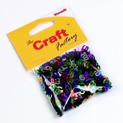 Craft Factory Assorted Shiny Multicoloured Paillette Numbers 15 grams - Hobby & Crafts