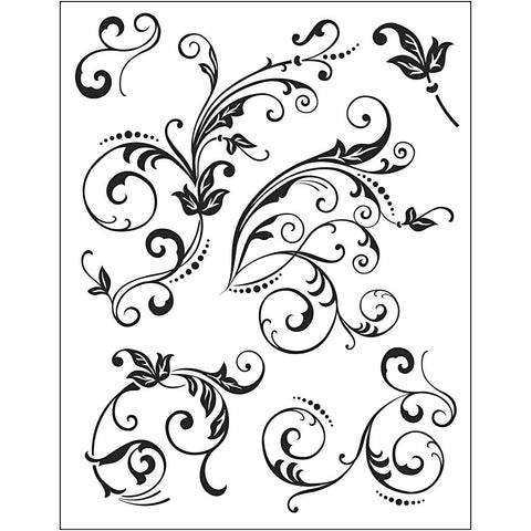 Viva Decor Transparent Silicone Floral Embellishments Motives Stamp Sheet To Paint Decorate