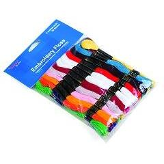 Floss1 - Assorted Bright Colour Skeins 36 Pack - Hobby & Crafts
