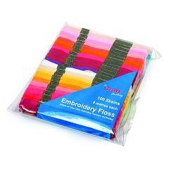 Floss100 - Assorted Rainbow Colour Skeins 100 Pack - Hobby & Crafts