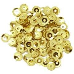 Gold Small Cup Sequins - Hobby & Crafts