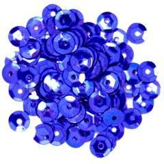 Royal Blue Small Cup Sequins - Hobby & Crafts