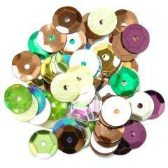 Multicolour Medium Cup Sequins - Hobby & Crafts