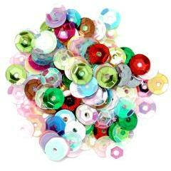 Multicolour Small Cup Sequins - Hobby & Crafts