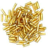 Gold twisted bugle beads - Hobby & Crafts