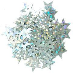 Silver Hologram Stars - Hobby & Crafts