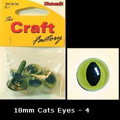 Minicraft Cats Eyes 18mm - Hobby & Crafts