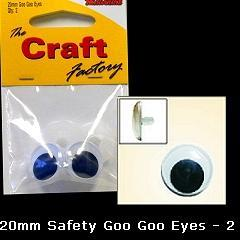Minicraft Goo Goo Sew On Eyes -20mm - Hobby & Crafts