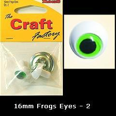 Minicraft Frog Eyes: 16mm - Hobby & Crafts