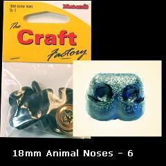Minicraft Animal/Dog Nose 18mm - Hobby & Crafts