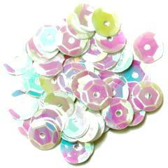 White Medium Cup Sequins - Hobby & Crafts