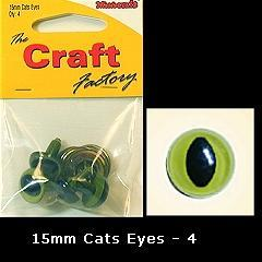 Minicraft Cats Eyes 15mm - Hobby & Crafts