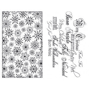 Viva Decor Transparent Silicone Christmas Elements Motives Stamp Sheet To Paint Decorate