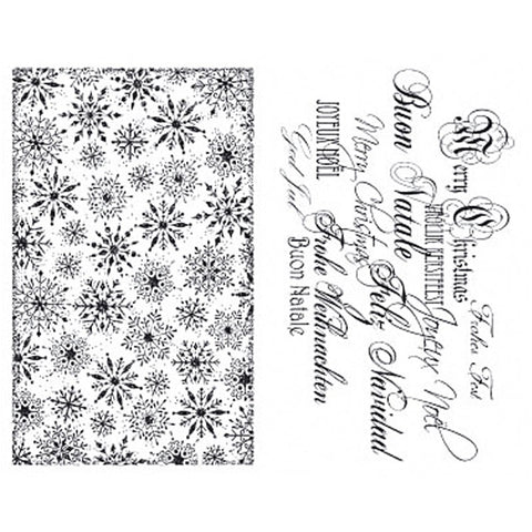 Viva Decor Transparent Silicone Christmas Elements Motives Stamp Sheet To Paint Decorate - Hobby & Crafts