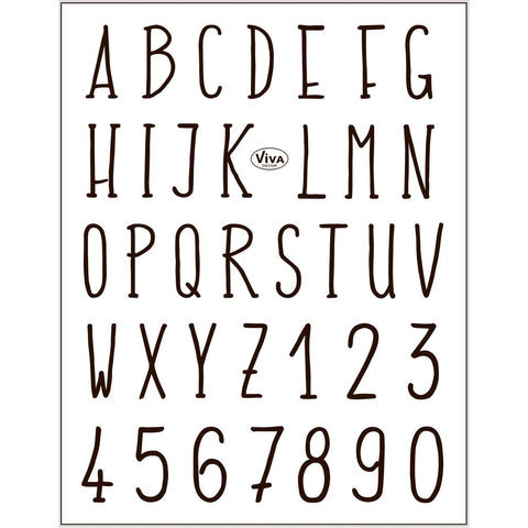 Viva Decor Transparent Adhesive Silicone Alphabets Digit Motives Stamp Sheet To Paint Decorate Craft - Hobby & Crafts