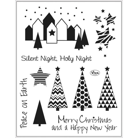 Viva Decor Transparent Silicone Silent Night Motives Stamp Sheet To Paint Decorate Crafts