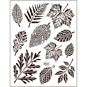 Viva Decor Transparent Adhesive Silicone Leaves Motives Stamp Sheet To Paint Decorate Craft - Hobby & Crafts