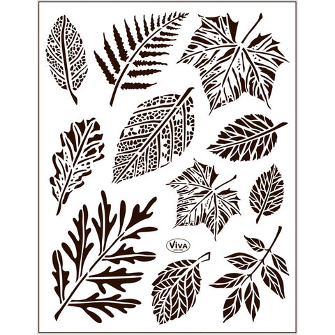 Viva Decor Transparent Adhesive Silicone Leaves Motives Stamp Sheet To Paint Decorate Craft