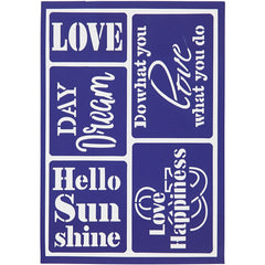 Viva Decor Hello Sunshine Flexible Self Adhesive Stencil Sheet For Paper Wood Crafts - Hobby & Crafts