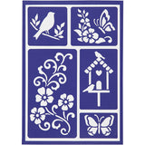 Viva Decor Spring Motifs Flexible Self Adhesive Stencil Sheet For Paper Wood Crafts - Hobby & Crafts