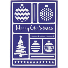 Viva Decor Modern Christmas Flexible Self Adhesive Stencil Sheet For Paper Wood Crafts - Hobby & Crafts