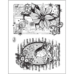 Viva Decor Transparent Silicone Christmas Card Motives Stamp Sheet To Paint Decorate Crafts - Hobby & Crafts
