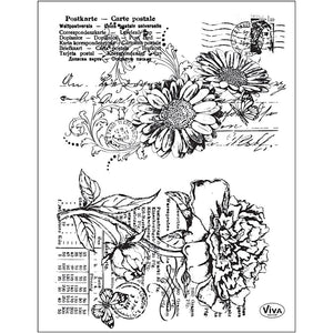 Viva Decor Transparent Silicone Postcard Motives Stamp Sheet To Paint Decorate Crafts 18 cm - Hobby & Crafts