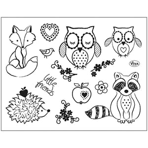 Viva Decor Transparent Silicone Friends Motives Stamp Sheet To Paint Decorate Crafts 18 cm