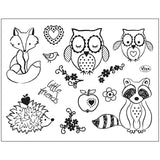 Viva Decor Transparent Silicone Friends Motives Stamp Sheet To Paint Decorate Crafts 18 cm - Hobby & Crafts