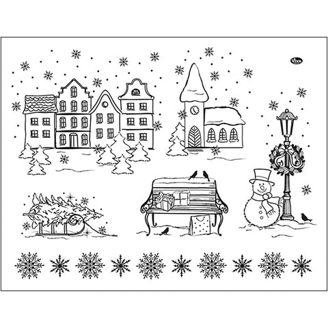 Viva Decor Transparent Silicone Christmas Motives Stamp Sheet To Paint Decorate Crafts 18cm