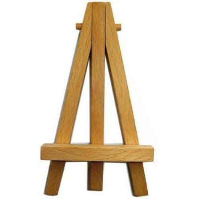 12 cm Wooden Artist Mini Easel Stand For Painting Canvas - Hobby & Crafts