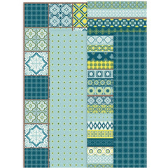 Assorted Sheets of Semi-Transparent Decoupage Papers - 4 Designs - Blue Harmony - Hobby & Crafts