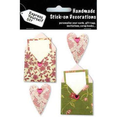 Express Yourself DIY Handmade Stick On Decoration - Floral Envelopes - Hobby & Crafts