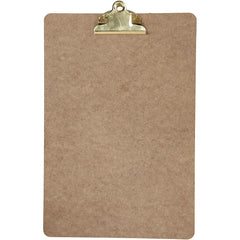 A4 Dark Brown MDF Clipboard With Brass Metal Clip 23cm x 34cm Writing Drawing Accessories