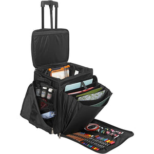 Professional Artists Crafter Trolley Bag Compartments Card Craft Luggage Storage - Hobby & Crafts