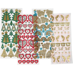 Multi Stickers, sheet 10x22.5cm, 20 mixed sheets