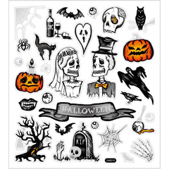 Stickers, sheet 15x16.5cm, halloween, 1 sheet