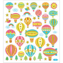Stickers, sheet 15x16.5cm, approx. 45 pc, air balloons, 1 sheet