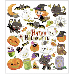 Stickers, sheet 15x16.5cm, approx. 32 pc, halloween, 1 sheet